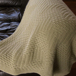 Afghan Double Knit Throw Blanket, Toffee by TG Knits - If I can, I always try to buy handmade items. Etsy never disappoints when I'm on the hunt for something unique. This double-knit throw blanket is the perfect example. Plus, how can you resist the subtle chevron pattern?