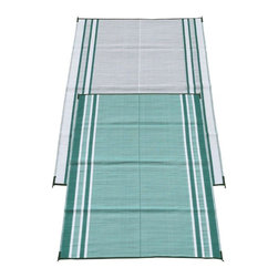 Fireside Patio Mats - Modern Indoor/Outdoor Fireside Patio Mats Rugs Mossy Teal Green 6 ft. x 9 ft. - Shop for Flooring at The Home Depot. Fireside Mossy Teal Green 72 in. x 108 in. Reversible Patio Mat comes in a Teal color with White accent stripes. This mat is large enough to comfortably sit 2 to 4 adults. Fireside reversible RV / Patio Mats will add a touch of elegance to your deck or patio. These high quality Polypropylene (plastic) mats are reversible with a complimentary pattern on the opposite side. You get two patterns for one low price. Fireside Patio Mats are lightweight and compact when folded so they are easy to travel with and easy to store. All of our Fireside indoor/outdoor reversible patio mats are stain and fade resistant and clean up is a breeze. Simply rinse your mat with a garden hose and allow to air dry. Fireside reversible patio mats have corner tie-down loops to stake the mat to the ground in windy conditions (tent stakes sold separately). Use our lightweight reversible patio mats to spruce up a tired old deck or patio while camping or RVing on the beach by the pool for picnics at car races while tailgating in the backyard or in the playroom or recreation room. Whether you call them RV mats RV awning mats or simply patio mats Fireside Patio Mats offers high quality reversible mats that are simply gorgeous and functional. Color: Blue.