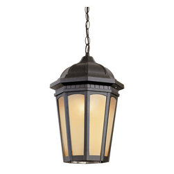 """Trans Globe Lighting - Trans Globe Lighting 40153 BK Tea Chateau 14"""" Outdoor Pendant - Weather resistant cast aluminum. Decorative wall bracket and lantern. Open at the bottom for easy"""
