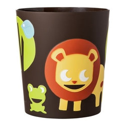 Circo Jungle Animal Print Wastebasket - Why not inject some fun into your mundane trash collection?This is perfect for quick cleanup in the nursery or the little one's bathroom.