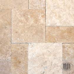 Tuscany Beige Tumbled Travertine - Tuscany Beige Tumbled Travertine pavers embody style and class. Their warm cream and tan hues add rustic sophistication to any landscape/hardscape design. This versatile travertine is available in a range of sizes from 8x8 to 24x24 for ultimate flexibility in design. Available finishes include honed, tumbled, chipped and unfilled and the pavers are recommended for interior and exterior use.
