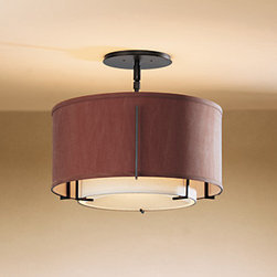 Exos Medium Double Shade Semi-Flush Ceiling Mount by Hubbardton Forge -