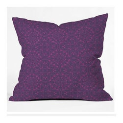 """DENY Designs - Khristian A Howell Provencal Lavender 1 Throw Pillow - Wanna transform a serious room into a fun, inviting space? Looking to complete a room full of solids with a unique print? Need to add a pop of color to your dull, lackluster space? Accomplish all of the above with one simple, yet powerful home accessory we like to call the DENY Throw Pillow! Features: -Khristian A Howell collection. -Top and back color: Print. -Material: Woven polyester. -Sealed closure. -Spot treatment with mild detergent. -Made in the USA. -Closure: Concealed zipper with bun insert. -Small dimensions: 16"""" H x 16"""" W x 4"""" D, 3 lbs. -Medium dimensions: 18"""" H x 18"""" W x 5"""" D, 3 lbs. -Large dimensions: 20"""" H x 20"""" W x 6"""" D, 3 lbs."""