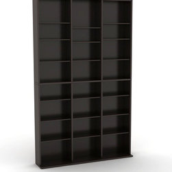 """Atlantic - Oskar Multimedia Storage Rack - This multimedia cabinet is great for all of your media storage needs. The wide base provides stability for your collection. Features: -Media tower.-Adjustable shelves for better media organization.-Features wide base to provide stability.-Stores up to 756 CDs or 360 DVDs or 414 Blu-rays.-Commercial Use: No.-Material: Wood composite / Steel.-Solid Wood Construction: No.-Number of Items Included: 1.-Weather Resistant or Weatherproof: No.-Scratch Resistant: No.-Heat Resistant: No.-Stain Resistant: No.-Drawers Included: No.-Exterior Shelves Included: Yes -Number of Exterior Shelves: 27.-Adjustable Exterior Shelves: Yes.-Number of Exterior Shelves: 27.-Adjustable Exterior Shelves: Yes..-Cabinets Included: No.-Distressed: No.-Collection: Oskar.-Recycled Content: No.-Eco-Friendly: Yes.-Product Care: Wipe clean with a dry cloth.-Storage Capacity: 756 CD 360 DVD 414 BluRay.-Wall Mountable: No.Specifications: -ISTA 3A Certified: Yes.Dimensions: -Overall Height - Top to Bottom: 60.4"""".-Overall Width - Side to Side: 37.2"""".-Overall Depth - Front to Back: 7.09"""".-Overall Product Weight: 46.9 lbs.-Shelving: Yes.Assembly: -Assembly Required: Yes.-Tools Needed: Screwdriver, Hammer.-Additional Parts Required: No.Warranty: -Product Warranty: 1 Year limited."""