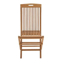 Comfortable Wood Teak Folding Chair - Description: