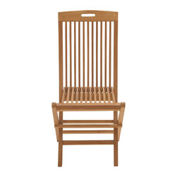 Comfortable Wood Teak Folding Chair - Description: