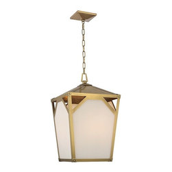 Hudson Valley Lighting - Hudson Valley Lighting 8715-AGB Pendant Light in Aged Brass - Hudson Valley Lighting 8715-AGB Carlisle Collection Modern Pendant Light in Aged Brass