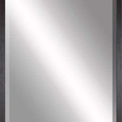 Paragon Decor - Beveled Mirror, Simple Thin Black, 36x48 - Mirror, Mirror, on the wall, who's the most beautiful mirror of them all? Reflect your impeccable taste with this contemporary-style mirror, which features a gorgeous simple thin black frame and high-quality interior beveled mirror. This piece measures 41 inches wide, 2 inches deep, and 53 inches high.