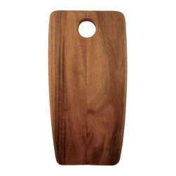 Be Home - Acacia Rectangular Board, Small - Chop to it! You'll be endlessly inspired to create culinary feats with this uniquely shaped cutting board — a cool new component of your eclectic kitchen. The bonus? Its acacia wood is ecologically forested.