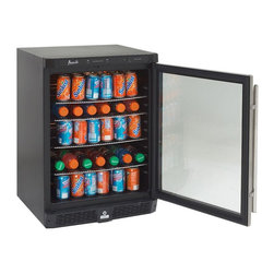 Avanti - Avanti 4.8 cubic ft. Built-In All Refrigerator-Glass Door with Stainless Steel F - Shop for Compact from Hayneedle.com! See exactly what's inside with the Avanti 4.8 cubic ft. Built-In All Refrigerator-Glass Door with Stainless Steel Frame. This compact unit is ideal for smaller spaces such as recreation rooms apartments offices home bars or dorms and features a handy front security lock on the door. This attractive refrigerator features a spacious 4.8 cubic-foot capacity and automatic defrost along with a clear dual pane glass door. It also features a detachable stainless steel pro-style handle. It also offers a full range temperature control and a flush back design.FeaturesDetachable handleReversible doorInterior lightAbout AvantiAvanti has been a leader in the Consumer Appliance Industry for over 30 years. They specialize in compact to full-sized refrigerators upright and chest freezers wine coolers water dispensers and more. Avanti's reputation has been built by providing quality products at a great value. They are known for our compact refrigerators for the home office and dormitory. Avanti compact refrigerators have become popular with hotel chains nationwide as in-room refrigerators and refreshment centers.