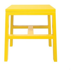 STAACH - Cain Collection Stool, Yellow - Designed by Seth Eshelman. Part of the Cain Collection. All finishes are Lead-free, HAPS free, low to no VOC and water borne/soluble.