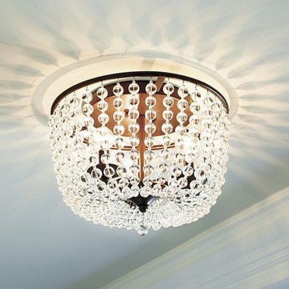 traditional ceiling lighting Margeaux Ceiling Mount Chandelier | Ballard Designs