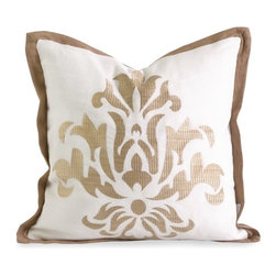 IMAX CORPORATION - IK Kassa Embroidered Pillow w/ Down Fill - Iffat Khan has developed a luxurious collection of down pillows with embroidered details and top of the line fabrics. Iffates refined aesthetic is evident in her collection which combines clean modern, classic casual and timeless traditional styles with her own creative twist. Find home furnishings, decor, and accessories from Posh Urban Furnishings. Beautiful, stylish furniture and decor that will brighten your home instantly. Shop modern, traditional, vintage, and world designs.