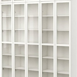 Gillis Lundgren/K Hagberg/M Hagberg/IKEA of Sweden - BILLY Bookcase with glass-door - Bookcase with glass-door, white