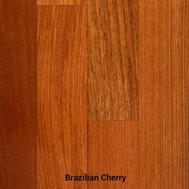 "Brazilian Cherry - Brazilian Cherry Exotic Hardwood Flooring / Jatoba - offered in prefinished & unfinished. Available in 2 1/4"", 3 1/4"", 4"", & 5"" Widths. Clear grade solid. Nation wide shipping with warehouses located throughout the country to help minimize freight costs. Minimum order 500 square feet."