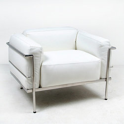 Modern Classics - Le Corbusier: Grand Confort Lounge Chair Reproduction - Features:
