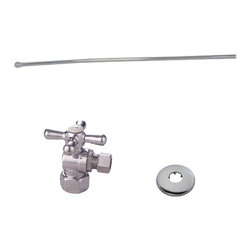 None - Decorative Polished Chrome Toilet Plumbing Supply Kit - The Decorative Toilet Plumbing Supply Kit is constructed of solid brass for quality and durability. This plumbing supply kit features a polished chrome finish and includes a shut-off valve and supply line.