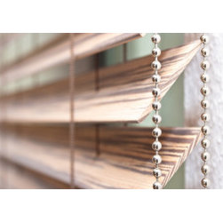 Shade Systems by, Fenstermann - Exotic Wood Shades by Fenstermann. Also available in Leather, Metal and other woods. We also provide Roman Shades, Panel Blinds, Cellular Shades, Wood Blinds, Roller Shades, Double Roller Shaeds, Natural Woven Shades, Exterior Shutters, and Custom Vertical Shades.