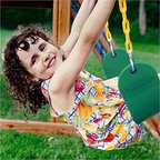 Eastern Jungle Gym Sling Swing Seat - Kids will absolutely love the rush of the wind on their faces with the Eastern Jungle Gym Green Sling Swing Seat with Coated Chain. It features a green, highly durable, copolymer plastic seat and an all-weather, rust-proof construction. Designed to be safe for children, it has plastisol-coated straight coil, yellow swing chains. These coated swing chains are stronger than rope and offer soft grip and eliminate possibilities of injury, making playtime fun and safe.