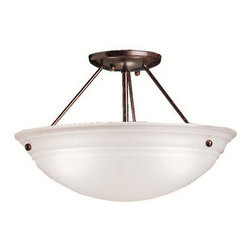 Kichler - Kichler 3122TZ Cove Molding Top Glass 3 Light Semi-Flush Indoor Ceiling Fixture - Product Features: