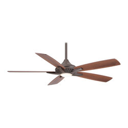 """Minka Aire - Minka Aire F1000-ORB Dyno Oil Rubbed Bronze 52"""" LED Ceiling Fan + Remote Control - Energy Efficient Integrated 17 Watt Dimmable LED Light"""