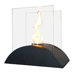 Nu-Flame - Nu-Flame Estro - This open ultra modern design allows the beauty and colors of the flames to be enjoyed by everyone. Relax and unwind as you watch the fascinating flames. Ships with snuffer tool. Perfect for any setting. Estro tabletop bio-fireplace may be used indoors or out, however do not leave your fireplace outside exposed to the elements after use. Fuel not included, we recommend using Nu-Flame Bio-Ethanol Fuel.