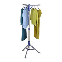 Honey Can Do Tripod Drying Rack - Air-drying is a breeze with the Honey Can Do Tripod Drying Rack, a space-efficient clothing rack that can hold up to 36 garments. Easy to store, it has a free-standing collapsible base that can be locked in place when standing upright. This all-metal drying rack has a tripod design that allows it to make most of small-sized spaces.About Honey-Can-DoHeadquartered in Chicago, Honey-Can-Do is dedicated to helping you organize your life. They understand that you need storage solutions that are stylish and affordable at the same time. Honey-Can-Do focuses on current design trends and colors to create products that fit your decor tastes while simultaneously concentrating on exceptional quality. When buying a Honey-Can-Do product, you can be sure you are purchasing a piece that has met safety control standards and social compliance methods.