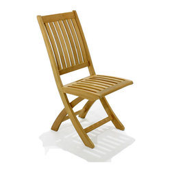 Westminster Teak Furniture - Barbuda Teak Folding Chair - Now you can take your dinner chair to go. Made of finely sanded, high-quality teak, you won't have to worry about it wobbling over. When dinner is finished, simply fold it up.