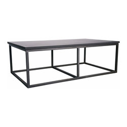 Noir - Noir - Stone Coffee Table with Metal, Small - Metal and Stone