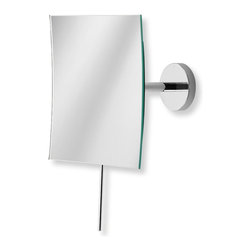 WS Bath Collections - Mevedo Magnifying Mirror - Mirror Pure by WS Bath Collections Mevedo Makeup/ Magnifying Mirror 6.1 x 6.1 Wall-mount with Flexible Arm in Polished Chrome. 3X