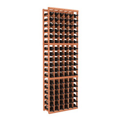 Six-Column Standard Wine Cellar Kit in Redwood