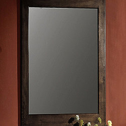 None - Dark Walnut 24-inch Wall Mirror - This simple and handsome mirror features a wooden frame with a dark walnut finish. This rugged mirror has a versatile style to contribute to many types of decor.
