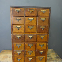 Antique Library Catalog Drawers -