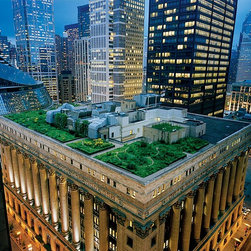 Magic Murals - Green Roof in Chicago Wallpaper Wall Mural - Self-Adhesive - Multiple Sizes - Ma - Green Roof in Chicago Wall Mural