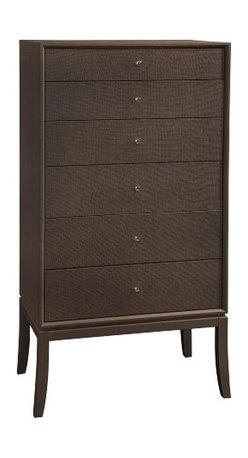 Basett Mirror - Latitude Tall Six-Drawer Chest, Chocolate - Latitude Tall Six-Drawer Chest, Chocolate. 30 x 18 x 58 H