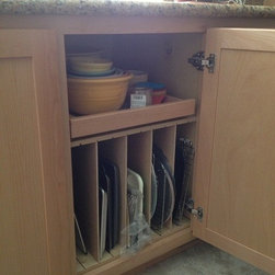 Cabinet Accessories - Tray Dividers with Pullout Drawer above,