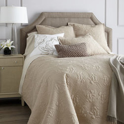 SFERRA - SFERRA Full/Queen Quilt Set - Exclusively ours. The Annabelle bedding collection by Sferra offers inviting textures galore in colors to mix and match. Select color when ordering. Each floral-quilted cotton voile quilt set with polyester fill comes with two shams. Matching Europ...