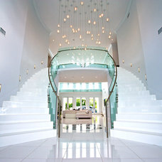 Contemporary Staircase by Mega Builders
