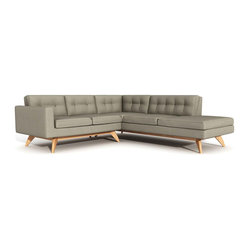 Luna Sectional Sofa with Bumper