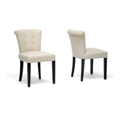 Baxton Studio - Baxton Studio Philippa Beige Linen Dining Chair (Set of 2) - This likable little dining chair set will take your home to new heights of comfort and style. The Philippa Chairs are sturdily and carefully crafted with a birch wood frame and legs and comfortably padded with dense foam. This chair is made in China and should be spot cleaned. Fully assembled.
