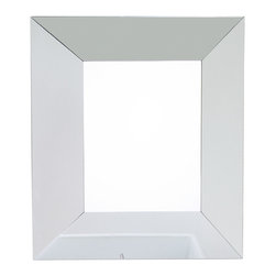 Hardware Resources - Lyn Design MIR077 Wood Mirror - This mirror with the beveled glass frame is the home decor version of the two-tone sweater. Except the duel look fits much better on your wall than in your closet.