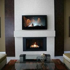 Contemporary Indoor Fireplaces by Dekko Concrete Decor