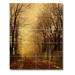 Picture-Tiles, LLC - A Golden Beam Tile Mural By John Grimshaw - * MURAL SIZE: 60x48 inch tile mural using (20) 12x12 ceramic tiles-satin finish.