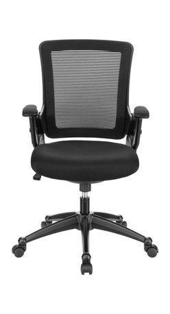 LexMod - View Office Chair with Mesh Back and Black Padded Seat - Capture some great moments of productivity with an office chair made just for you. View features a fully-ventilated mesh back; waterfall foam padded seat; height adjustable arms; and a heavy nylon base with five dual-wheel casters. It's everything you need in an office chair with the sturdy build and personal fit that keeps you looking forward.