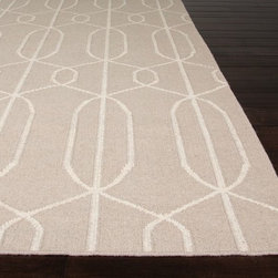 Jaipur - Contemporary Maroc 5'x8' Rectangle Classic Gray Area Rug - The Maroc area rug Collection offers an affordable assortment of Contemporary stylings. Maroc features a blend of natural Classic Gray color. Flat Weave of 100% Wool the Maroc Collection is an intriguing compliment to any decor.