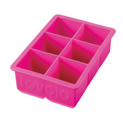 "Tovolo King Cube Ice Tray Fuchsia - Pitcher perfect! The Tovolo King Cube perfect large ice cube trays are fun! ձ the larger surface means that the ice melts slower your beverage stays colder and your drink tastes the way it should. Makes 2"" Perfectly Cube Ice Cubes."