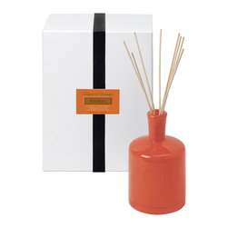 Cilantro Orange / Kitchen Diffuser - 15 oz. - Bright and intriguing with its bold mix of citrus and greens, the Cilantro Orange Kitchen Diffuser provides a mental boost and an olfactory pleasure with its mix of fresh-cut cilantro leaves, sweet mandarins, and a�moist, crisp touch�of watercress.� Though the vivid burnt orange bottle's luxury scent is designed for the kitchen, its aroma offers an awakening, mouthwatering freshness in the study and living room, too.