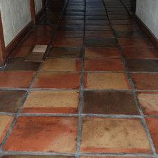 Eclectic  Terra Cotta Tile Floor