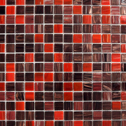 Copper Red Glass Mosaic -