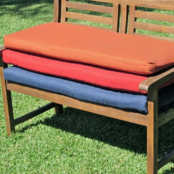 Blazing Needles - Blazing Needles Outdoor Standard 5 ft. Solid Patio Bench Cushion - 93450-LV-56W- - Shop for Cushions and Pads from Hayneedle.com! Give your favorite seat a face-lift with the Blazing Needles Outdoor Standard 5 ft. Solid Patio Bench Cushion. This stylish cushion is meant to breathe new life you're your cherished outdoor furniture. Super comfy super soft and even easy to clean - simply remove the quality filling before washing. Velcro tabs keep the cushion securely attached to your favorite bench and you'll love the selection of colors and prints. This premium outdoor fabric offers UV light and weatherproof protection.About Blazing NeedlesBlazing Needles L.P. specializes in the manufacture of cushions pillows and futons. As a sister company of International Caravan Inc. Blazing Needles provides a wide variety of cushions to fit the frames and furniture pieces made by International Caravan. In particular Blazing Needles' production of papasan cushions occupies a unique niche within their industry and sets them apart as a prime supplier for certain retailers. Other services they provide include contract filling sewing and import sourcing. The headquarters of International Caravan and Blazing Needles is located in Fort Worth Texas.